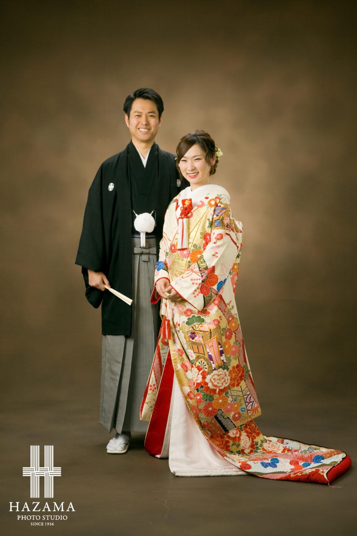 婚礼前撮り 色打掛で 福岡市の老舗フォトスタジオ ハザマ写真場